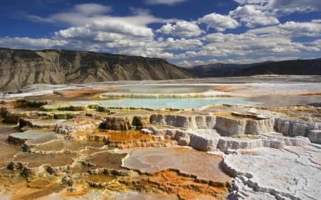 Обои Yellowstone, National park, источник, соль