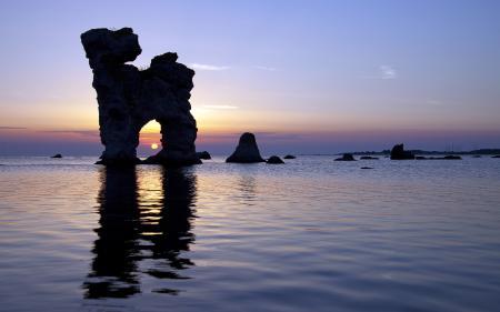 Обои морской пейзаж, море, скалы, арка