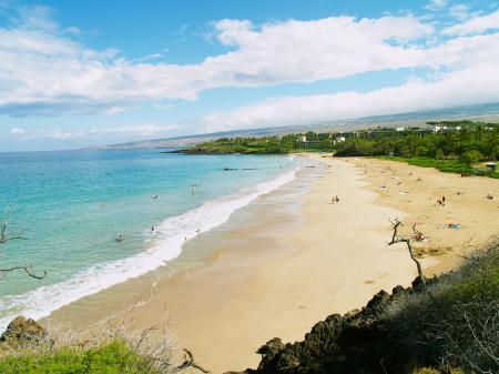 Фото природа, пляж, люди, волны