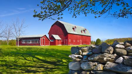 Картинки ферма, камни, поле