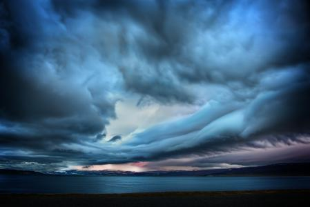 Картинки Шторм, небо, тучи, океан