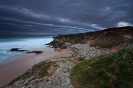 Фотографии вечер, небо, море, скалы