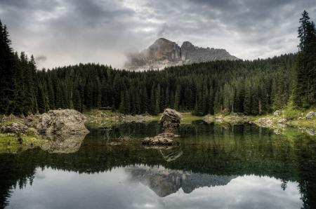 Картинки природа, озеро, лес, горы
