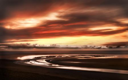 Фотографии закат, небо, облака, побережье