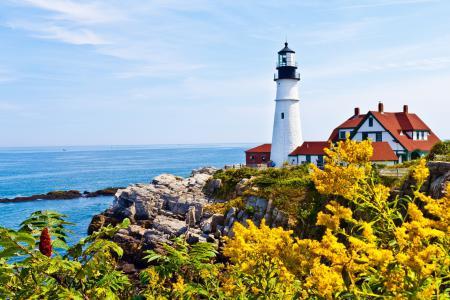 Фото маяк, море, пейзаж