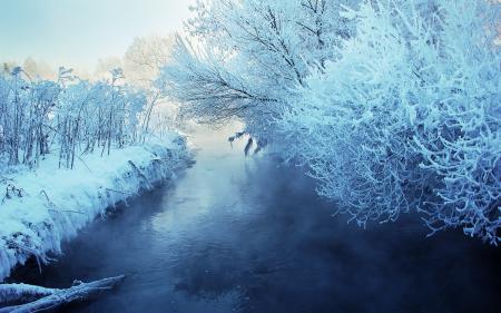 Фотографии зима, река, снег, пейзаж