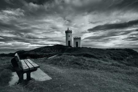 Фотографии маяк, море, скамья, пейзаж