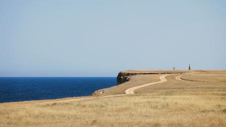 Фотографии море, берег, дорога, маяк