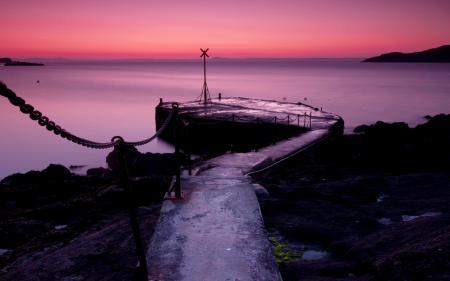 Фотографии ночь, море, причал, пейзаж