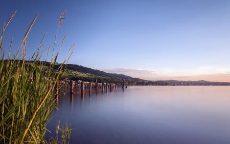 Фото озеро, лето, пейзаж
