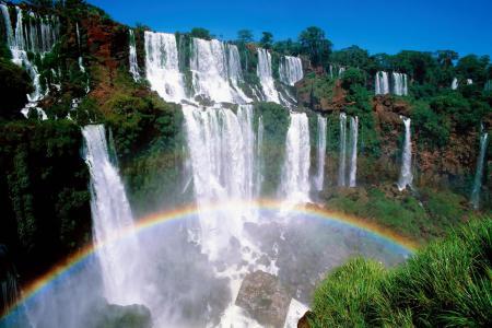 Фото радуга, водопад, улыбка природы