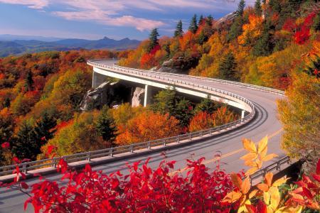 Заставки виадук, дорога, осень