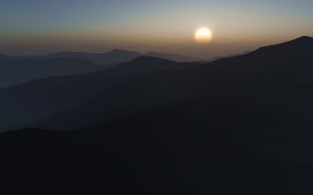 Фотографии солнце, горы, холмы