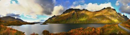 Заставки Осень, Озеро, Фото, Природа
