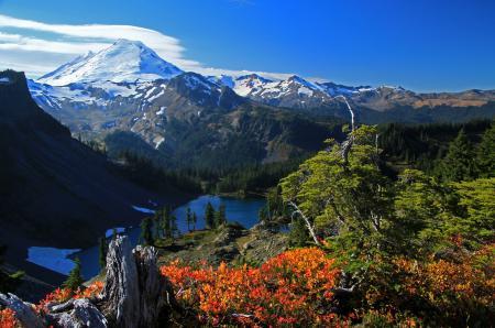 Заставки горы, озеро, долина, дерево