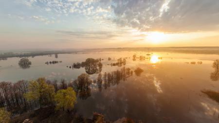 Картинки река, Клязьма, Нерль, разлив