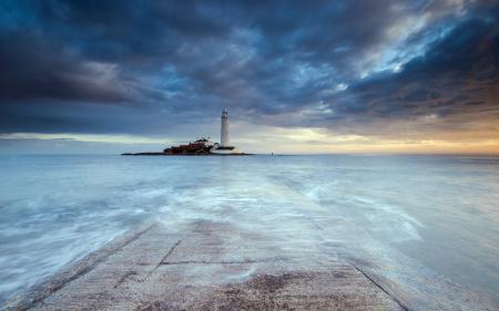 Заставки море, маяк, пейзаж