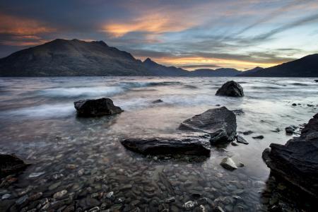 Фотографии Новая Зеландия, море, горы, камни