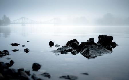 Заставки утро, река, туман, пейзаж
