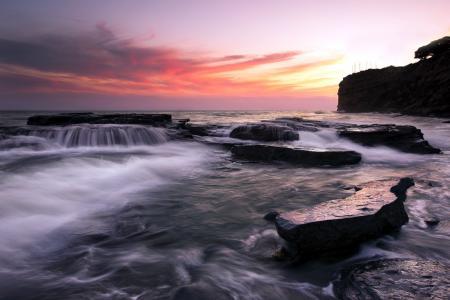 Фотографии море, скалы, закат, пейзаж
