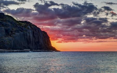 Заставки закат, море, гора, пейзаж