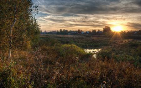 Фотографии закат, река, пейзаж