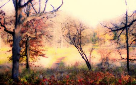 Обои природа, пейзаж, фон, стиль