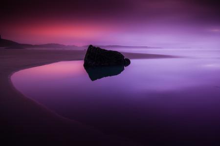 Картинки море, пляж, закат, песок