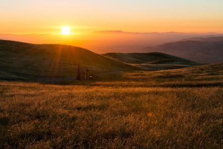 Заставки Восход, солнце, холмы, сопки