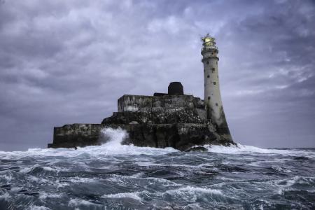 Фото Fastnet Rock, море, маяк, пейзаж