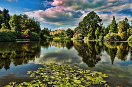Фотографии парк, озеро, замок, дворец