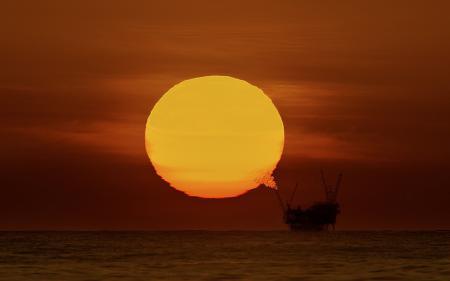 Картинки солнце, закат, море, платформа