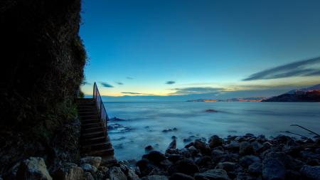 Заставки природа, закат, море, океан