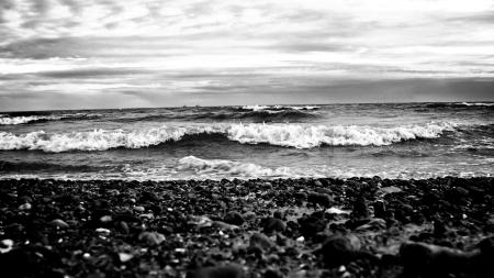 Обои пейзажи, landscape, камни, море