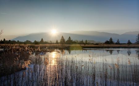 Заставки солнце, озеро, кмыш