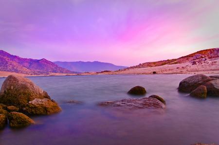 Фото розовое, спокойствие, море, вода