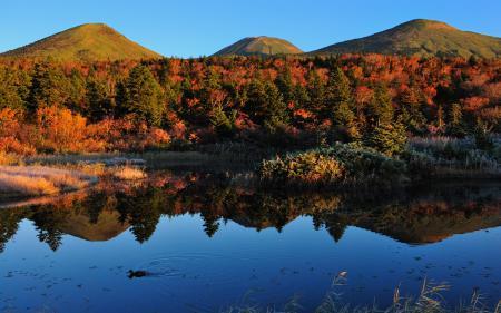 Обои природа, пейзаж, осень, озеро