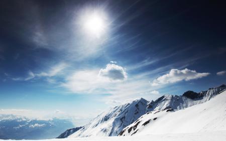 Фотографии горы, скалы, снег, солнце