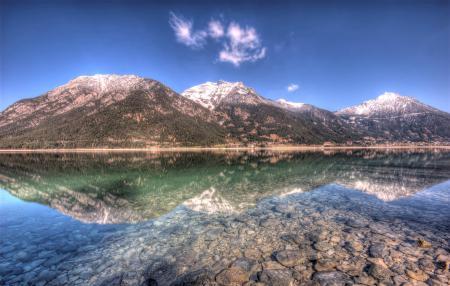 Обои Природа, пейзаж, горы, озеро
