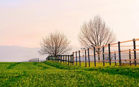 Заставки поле, забор, пейзаж