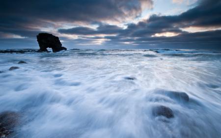 Фотографии море, скалы, сумерки, пейзаж
