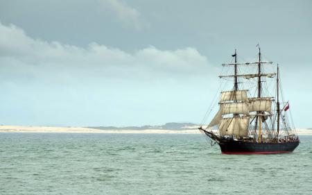Картинки корабль, море, пейзаж