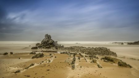 Обои море, скалы, небо, природа
