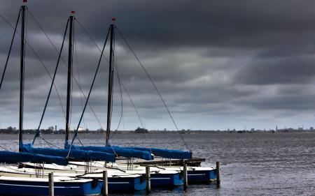 Фото лодки, озеро, пейзаж