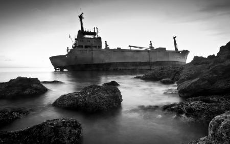 Картинки пейзаж, природа, корабль, берег