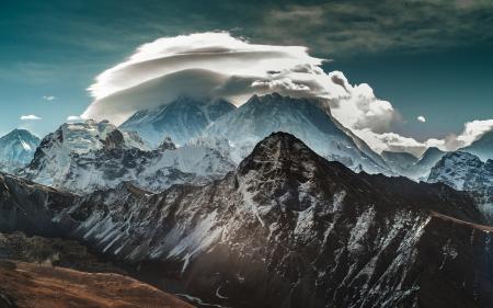 Обои горы, небо, облака