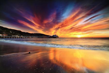 Заставки небо, море, пляж, краски