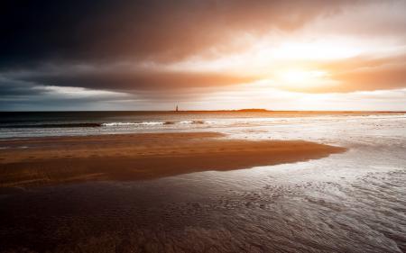 Фотографии закат, море, маяк, пейзаж