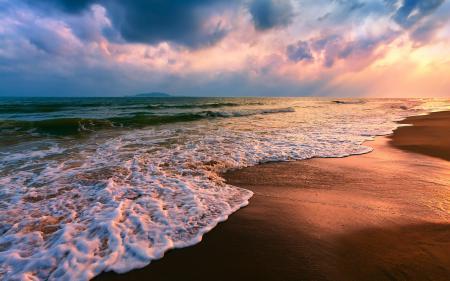 Заставки Пейзаж, море, волны, пляж