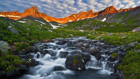 Фотографии San Juan Mountains, горы, речка, ручей